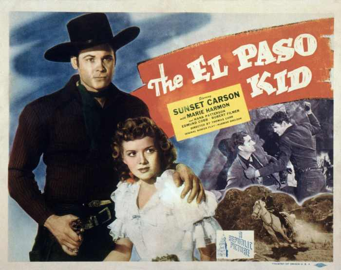 THE EL PASO KID, from left: Sunset Carson, Marie Harmon