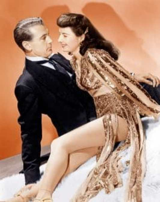 Gary Cooper and Barbara Stanwyck in Ball of Fire, her first Oscar nomination