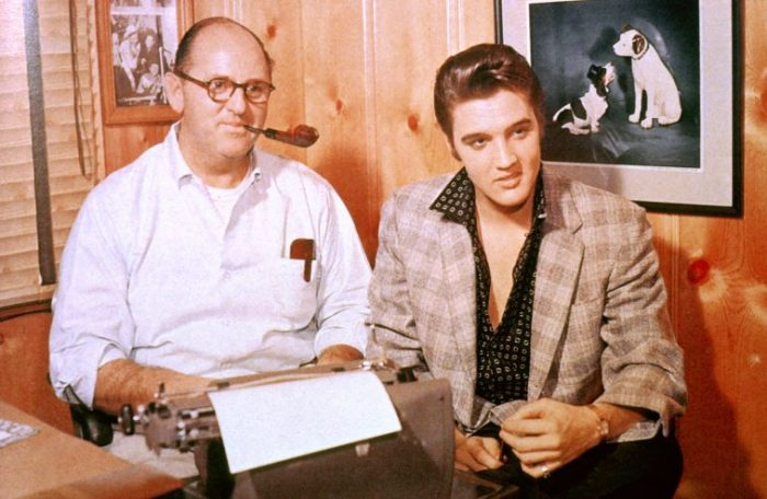 Col. Tom Parker and Elvis Presley