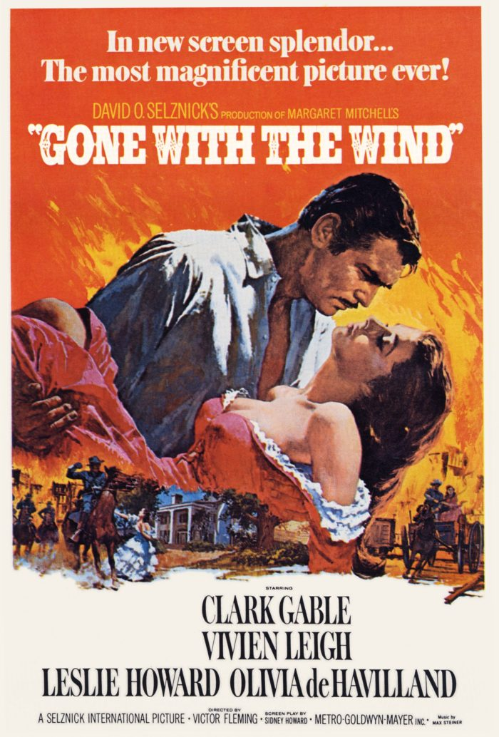 gone with the wind promotional movie poster