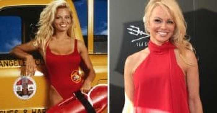 Parker herself, Pamela Anderson then and now