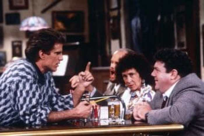 CHEERS, front, from left: Ted Danson