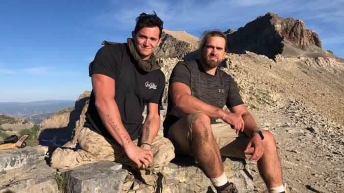 A veteran carried a fellow Marine up a mountain after he lost his legs in Afghanistan