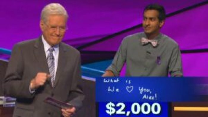 Trebek often had to quickly react to a contestant's statement