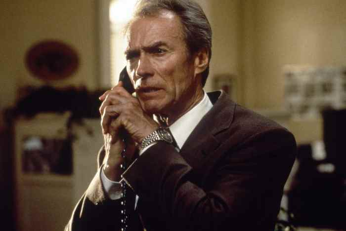 IN THE LINE OF FIRE, Clint Eastwood, 1993