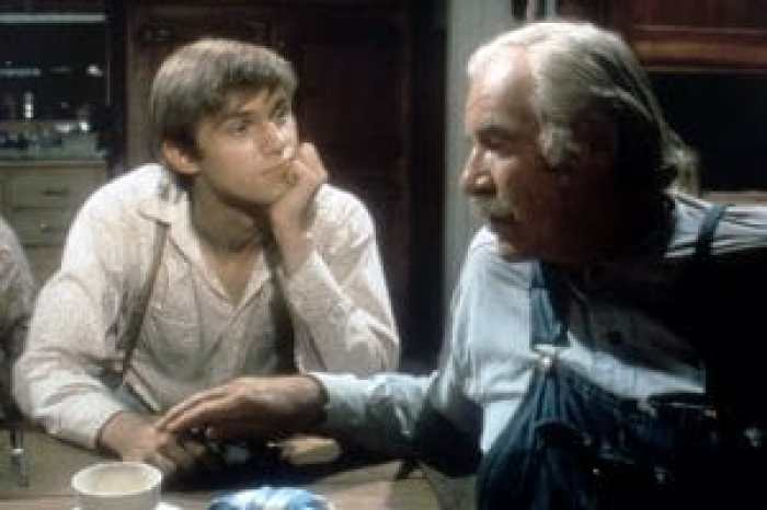 THE WALTONS, (from left): Richard Thomas, Will Geer