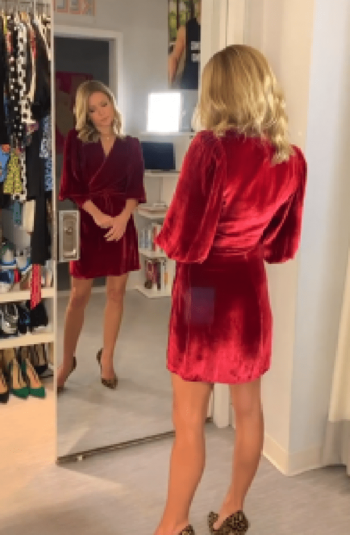 Fans felt Kelly Ripa's red dress from Reformation looked more like a bathrobe