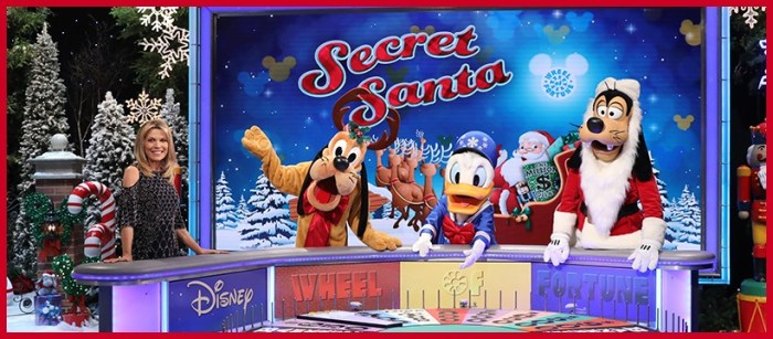 wheel of fortune secret santa disney vanna white goofy pluto donald duck