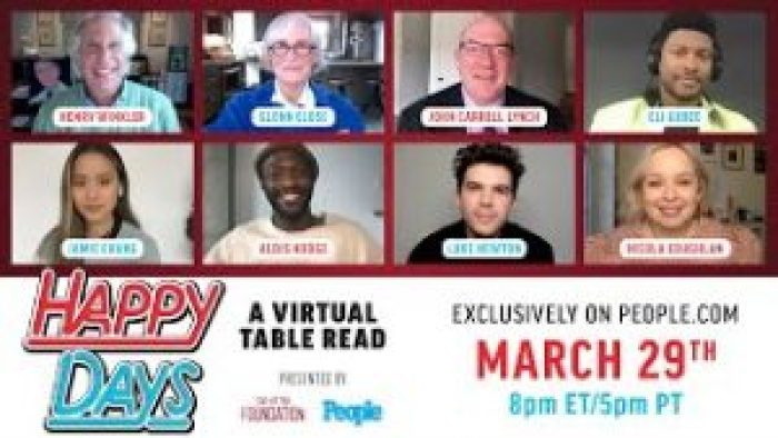 Henry Winkler participates in People's virtual table reading for Happy Days