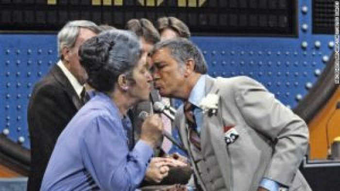 Richard Dawson started kissing female contestants on 'Family Feud' after one woman was too nervous to answer a prompt