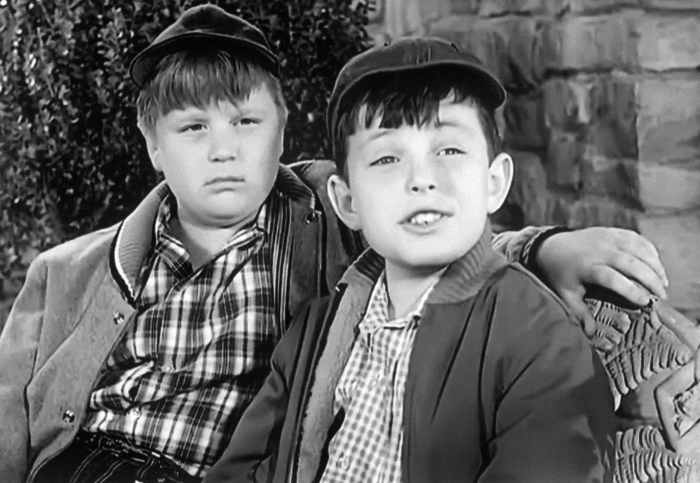 LEAVE IT TO BEAVER, (from left): Robert 'Rusty' Stevens, Jerry Mathers, 1957-63