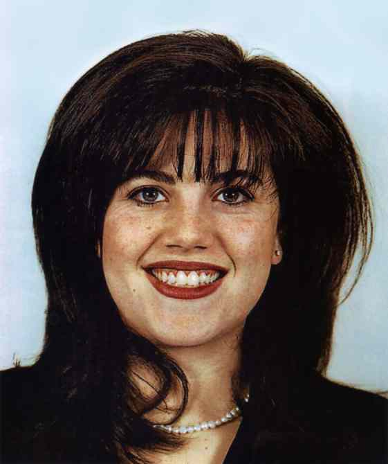 Department of Defense identification photo of Monica Lewinsky from 1996