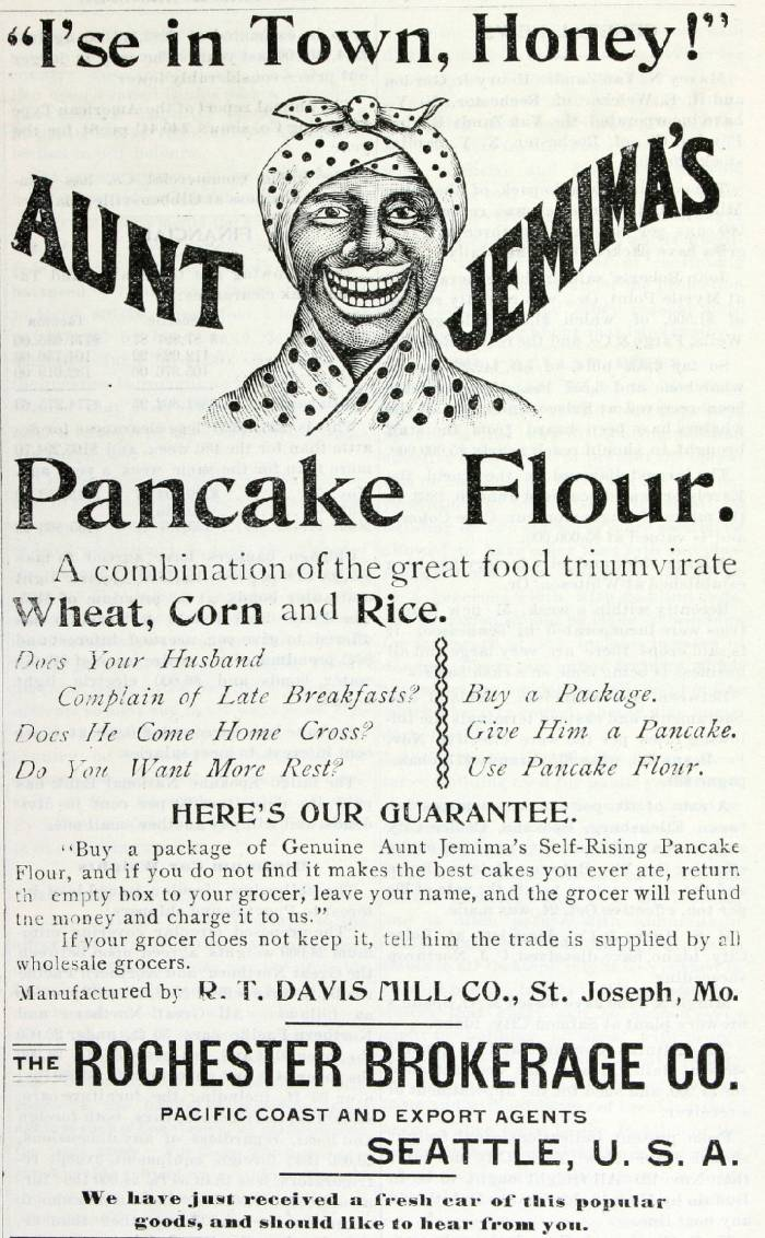 old aunt jemima ad for pancake flour