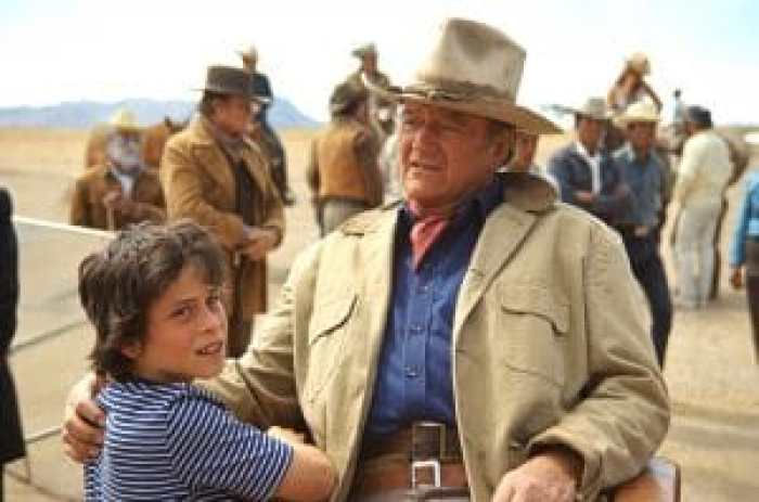 John Wayne and his son Ethan