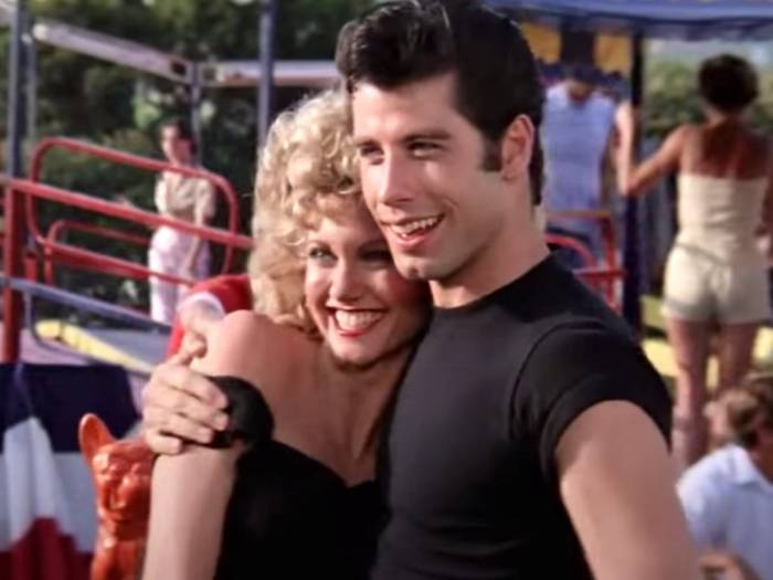 sandy and danny in grease olivia newton john john travolta