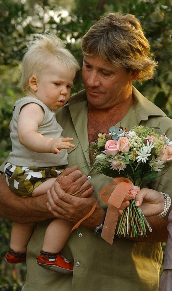 young robert and steve irwin at a wedding