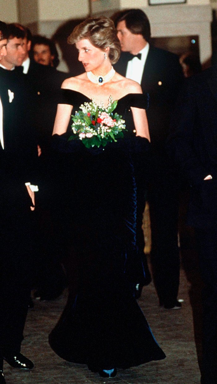 princess diana midnight blue dress