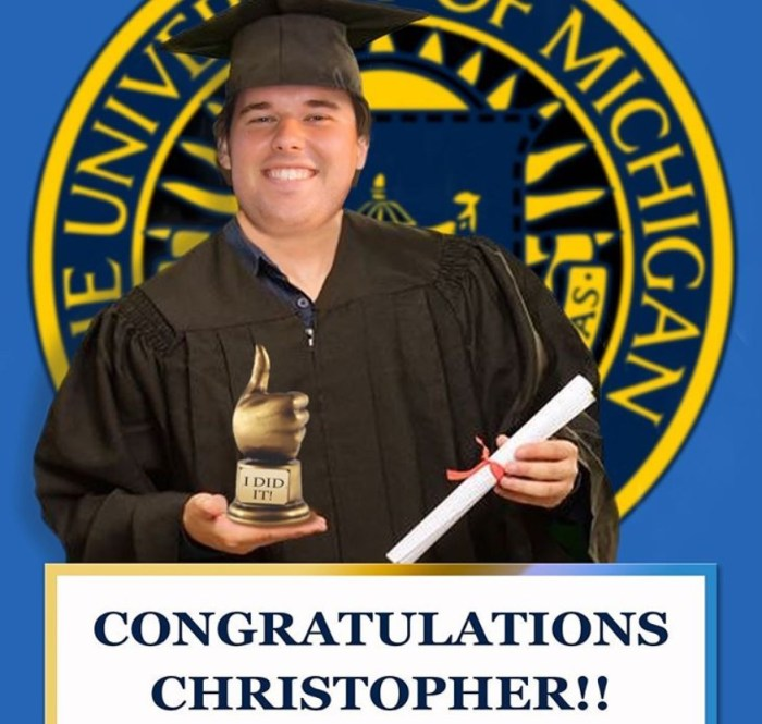 christopher graduation university of michigan