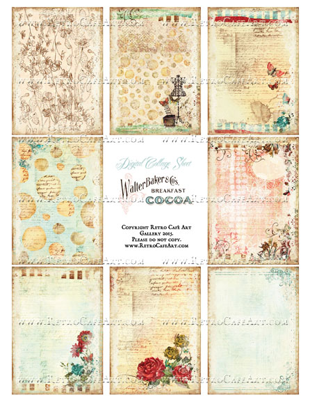 ATC Artist Trading Card BACKGROUNDS