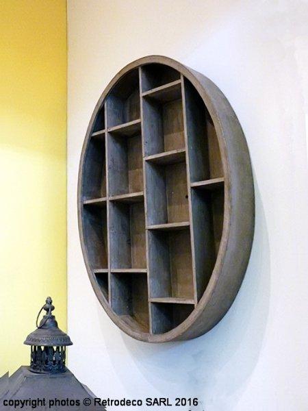 etagere casiers ovalie en bois deco