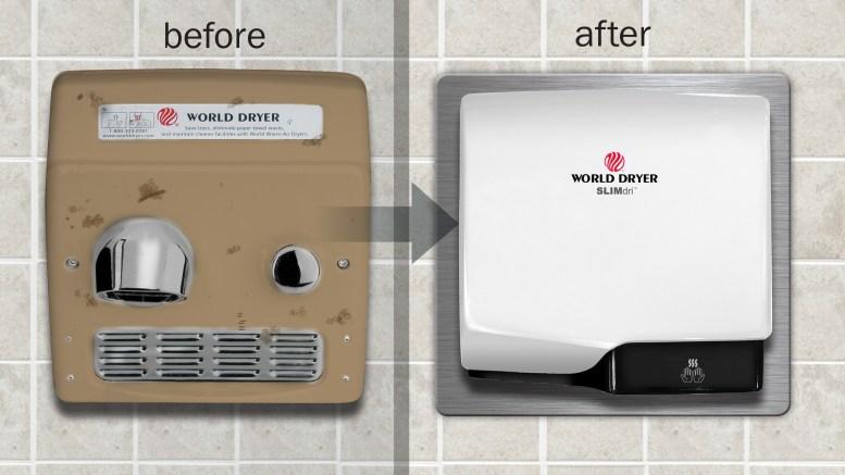 World Dryer's SLIMDri Hand Dryer Retrofit Kit