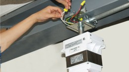 Orbit Industries allows one person to install high-bay fixtures.