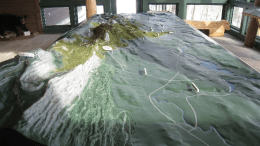 Topographic map at Mohonk Preserve's Trapps Visitor Center