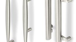 Rockwood's MariTek Collection of architectural door pulls and OvalTek Collection of offset pulls