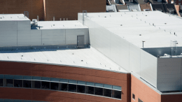 Garland's Clear-Shield Rx technology is a clear-acrylic, non-toxic roof coating
