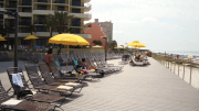 The hotel expanded its deck by 15,000 square feet and specified composite decking.