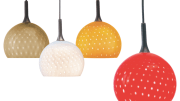 The Tysen hand-blown glass pendant from Nora Lighting.