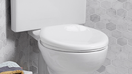 American Standard has expanded the popular Cadet PRO line of trade exclusive toilets to include this model with a triangular tank.