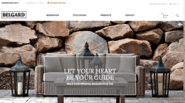 Belgard Hardscapes' new website.