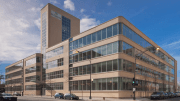Hillshire Brands' headquarters after its window retrofit.