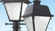 Acuity Brands Inc. introduces LED versions of popular lantern-style Valiant? (AVP) and American Revolution Deluxe (ARD) post top luminaires from American Electric Lighting.