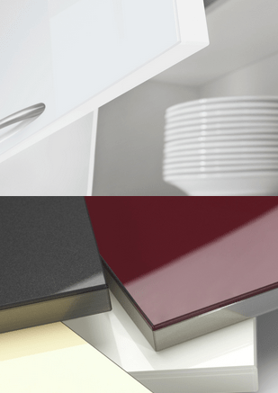 High Gloss Laminate And Glass Design Surfaces Are Heat Moisture