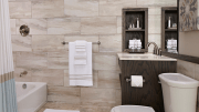 Included in the American Standard Fluent bathroom collection are single handle, 4-inch centerset and 8-inch widespread lavatory faucets, as well as a deck-mount tub filler with optional hand shower, and a bath/shower set.