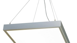 Nora Lighting's family of Edge-Lit LED Panels features a pendant-mounting option that allows suspension of the fixture up to 8 feet from the ceiling.