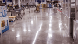 Consolideck Blended Densifier from PROSOCO is a one-step solution that reacts with concrete to quickly create a harder, denser surface that can be burnished for a quick sheen.