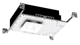 The Aether downlight from WAC Lighting is engineered with an exclusive, low-profile 3 1/2-inch LED shallow housing.