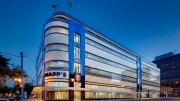 The Streamline Art Moderne façade, one of the largest examples of this classic Art Deco treatment in the U.S., now consists of an aluminum rainscreen system layered over insulation and a thermal barrier.