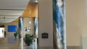 Móz Designs Digital Imagery, a metal surfacing material, is now available for application onto architectural column covers.