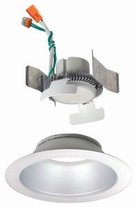 The Cobalt Click LED downlight offers interchangeable, snap-on trims.