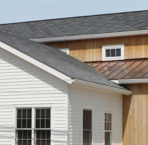 The Inspire Aledora Slate composite roofing is manufactured in the same town in which the restaurant stands.