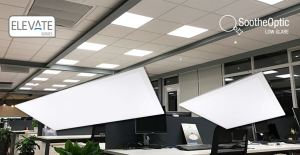 The panel lights feature SootheOptic low glare technology that minimizes visual glare.