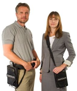 Tablet belt clips keeps hands free and technology close.