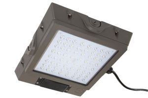 The LED canopy light features a compact microwave motion, occupancy sensor that helps to streamline operation.