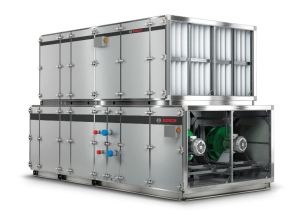 The commercial air handler from Bosch Thermotechnology Corp. provides commercial and industrial customers with improved indoor air quality.