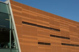 The $19 million renovation and expansion of the library and an adjacent parking structure took 17 months to complete.