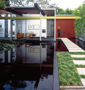 Integration with the landscape is a defining characteristic of mid-century modern design.